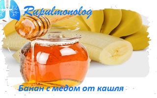 Банан от кашля. Рецепты.